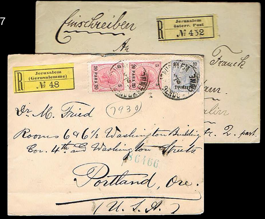 Lot 17 - holy land Austrian post office -  House of Zion Public Auction #105