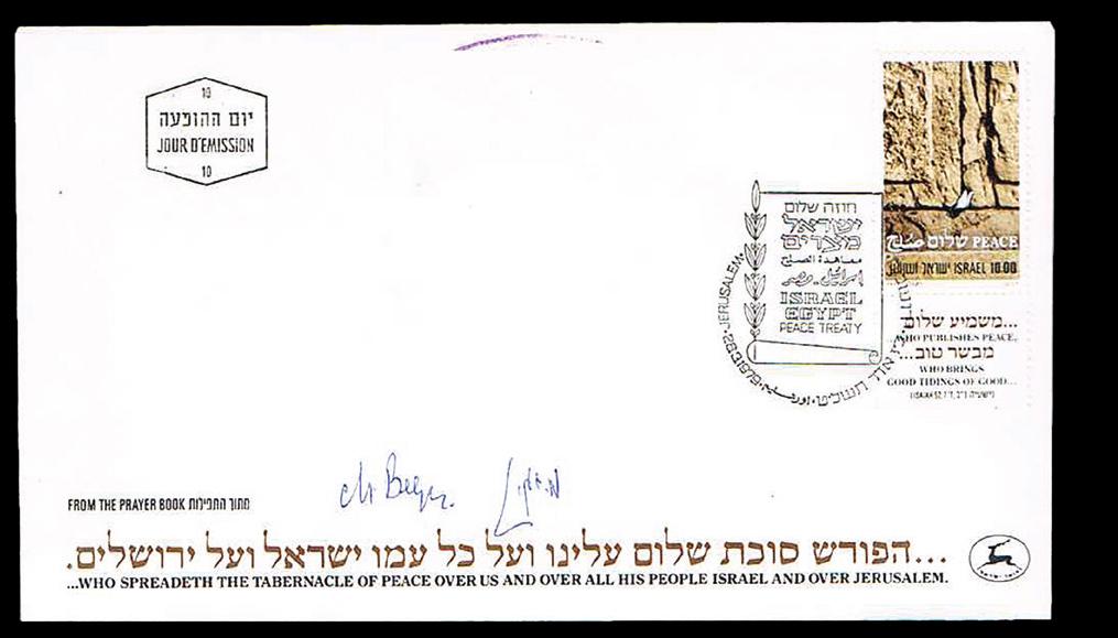 Lot 208 - Israel autographs -  House of Zion Public Auction #105